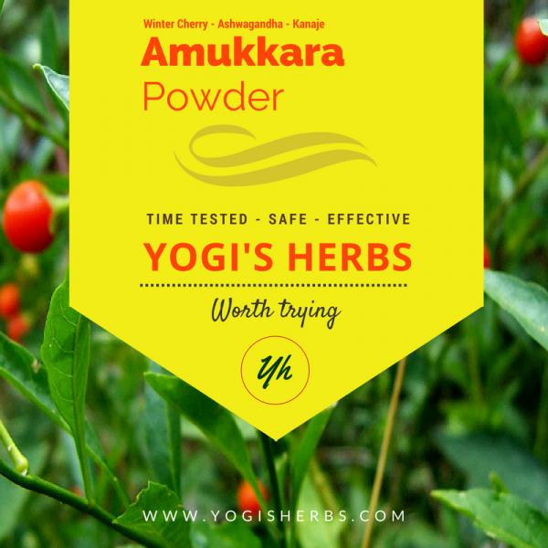 Amukkara Powder ( Ashwagandha / Indian Ginseng )- Fresh & Pure 1