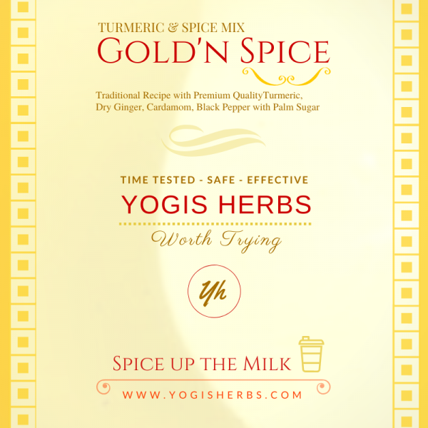 Gold'n Spice - 20 X 5g Sachet - (Turmeric & Spice Mix / Golden Turmeric Milk / Haldi Doodh / Traditional Recipe with palm Sugar ) - Spice up the Milk ! 1