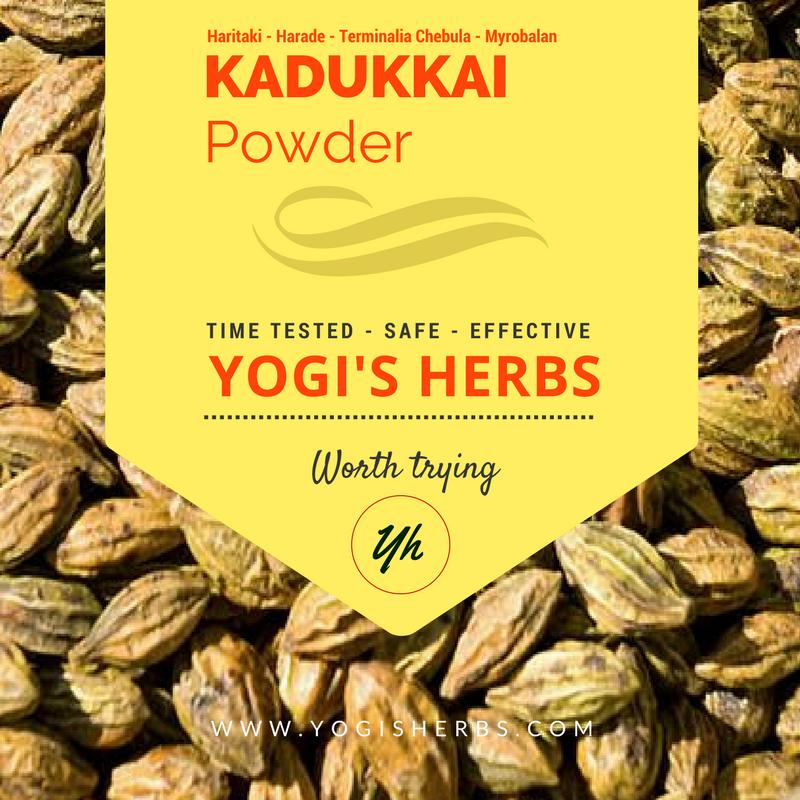 Kadukkai Powder 200g 2 X 100g Yogi S Herbs