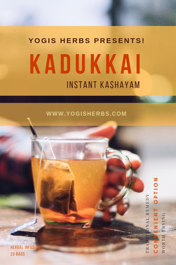 Kadukkai Kashayam – Instant Herbal Infusion (Haritaki / Terminalia Chebula) – 20 Dip Bags 1
