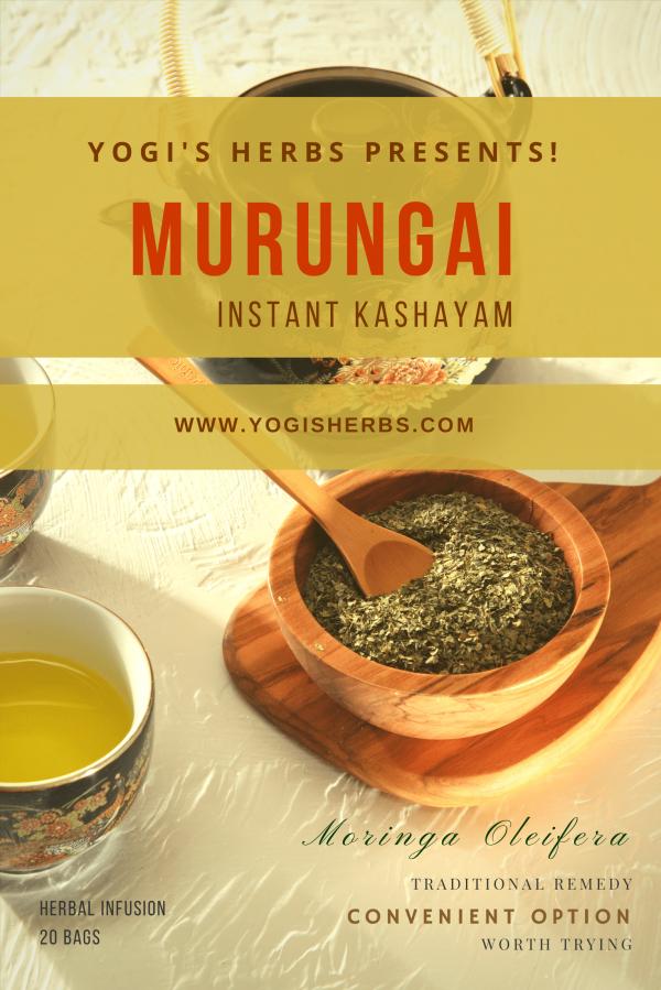 MURUNGAI Tea / Instant Kashayam (Moringa Oleifera) – Herbal Infusion – 20 Dip Bags 1