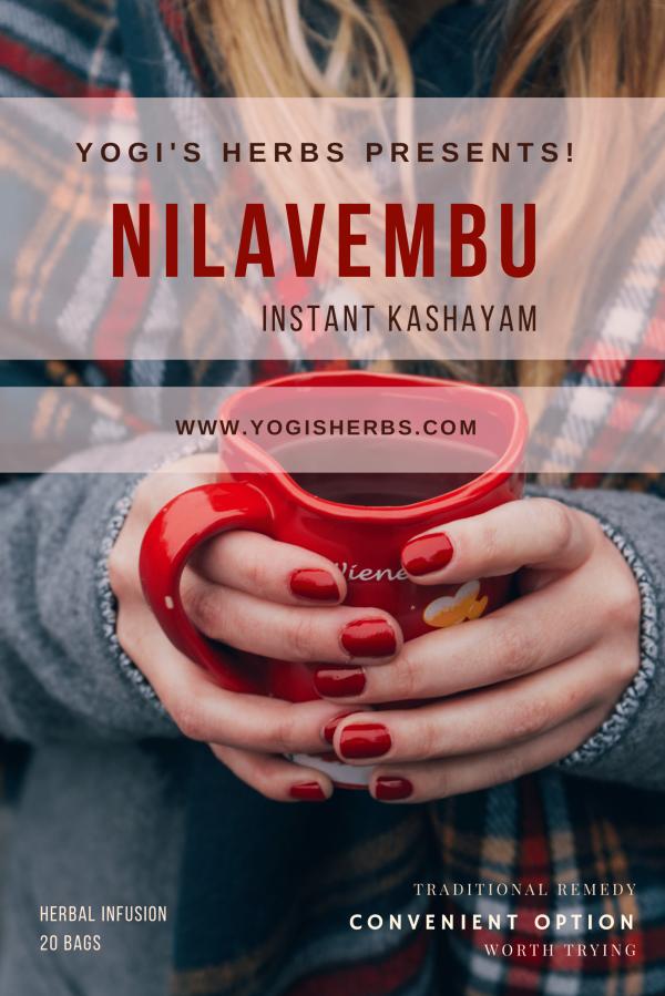 Nilavembu Kashayam (Andrographis paniculata )- Instant Herbal Infusion – 20 Dip Bags 1