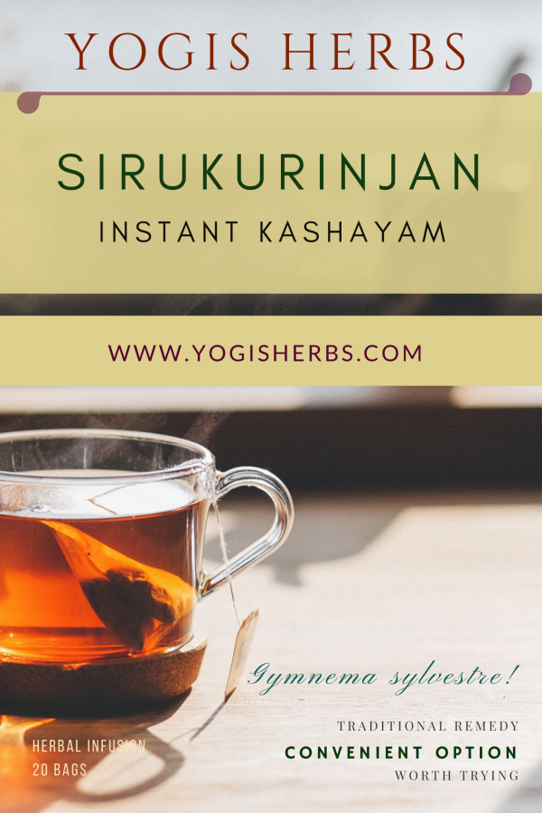Sirukurinjan Instant Kashayam (Gymnema Sylvestre) – Herbal Infusion – 20 Dip Bags 1