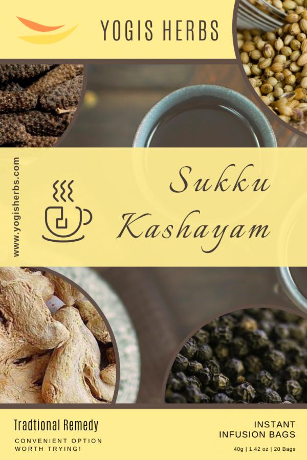 SUKKU KASHAYAM - Instant Infusion - 20 Dip Bags 1